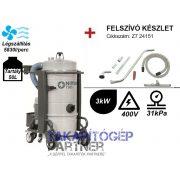 Nilfisk T30 L50 háromfázisú ipari porszívó, erőteljes, folyamatos elszívásra (+felszívó készlet)