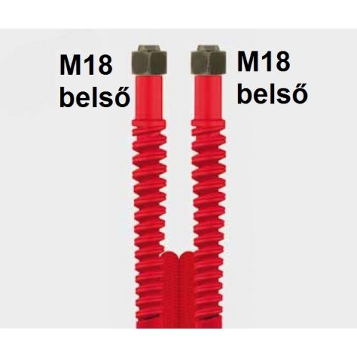 Nagynyomású tömlő 4,2m, piros Ehrle Dibo Christ Uniwash autómosókhoz (M18 belső - M18 belső)
