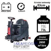 VIPER AS 530R vezetőüléses ipari takarítógép kormánya és kezelőszervei