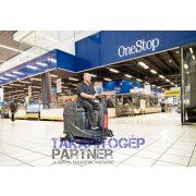 VIPER AS 530R vezetőüléses padlótisztító gép szupermarket áruházban takarít