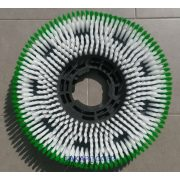 """Kefe (Numatic / Fiorentini géphez) közepes 17"""" 45cm fehér-zöld PPL 0,75mm"""