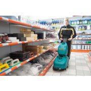 Eureka E36 B akkumulátoros padlótisztító gép boltban takarít csempés padlót
