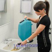 Eureka E46 B akkumulátoros padlótisztító gép ideális nőknek is