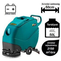 Eureka E50 Base ipari padlótisztító gép (akkumulátor+kefe+szívógumi)