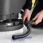 Eureka E50 Base ipari padlótisztító automata piszkosvíz leeresztés szabályzó csappal