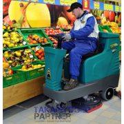 Eureka E65 E75 E83 vezetőüléses ipari padlósúroló gép hipermarket kiskereskedelem takarítás