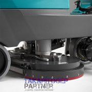 Eureka E65 E75 E83 vezetőüléses ipari padlósúroló gép fröcskölésvédő a kefefejnél