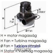 Felszívómotor 24V 430W E850001