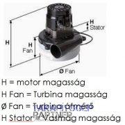 Porszívó motor Taski Baby Bora / Vento 8 / Bora 12