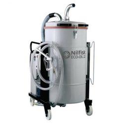 Nilfisk ECOIL 22 5PP ipari porszívó hűtő és kenőfolyadék, olaj, fémforgács összegyűjtésére, szétválasztására (+felszívó készlet)