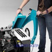 Eureka Kobra EB akkumulátoros ipari seprőgép nagy felületű porszűrője