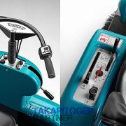 Eureka Tigra akkumulátoros seprőgép kormány és kezelőgombok