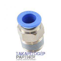 """Egyenes gyorscsatlakozó műanyag csőhöz 12mm 1/2 """"külső menet PC-12-04"""