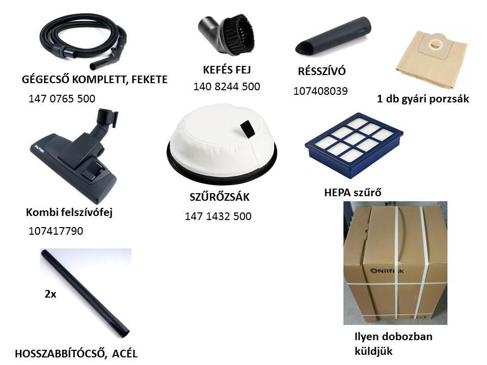 Nilfisk VP300 HEPA BASIC alaptartozékok